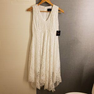 Just Taylor White Lace Dress Size 2 NWT